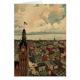 Vintage Pictorial Map of Milwaukee WI (1898) Card
