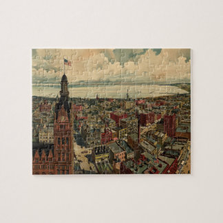 Vintage Pictorial Map of Milwaukee WI (1898) Puzzle