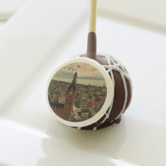Vintage Pictorial Map of Milwaukee WI (1898) Cake Pops