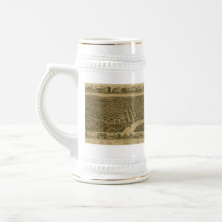 Vintage Pictorial Map of Montgomery Alabama (1887) Beer Stein