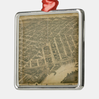Vintage Pictorial Map of Montgomery Alabama 1887 Christmas Ornaments