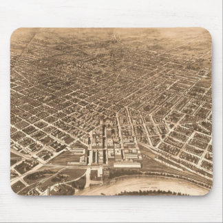 Vintage Pictorial Map of Montgomery Alabama (1912) Mouse Pad