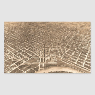 Vintage Pictorial Map of Montgomery Alabama (1912) Sticker
