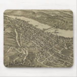 Vintage Pictorial Map of Morgantown WV (1897) Mouse Pad
