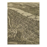 Vintage Pictorial Map of Morgantown WV (1897) Post Card