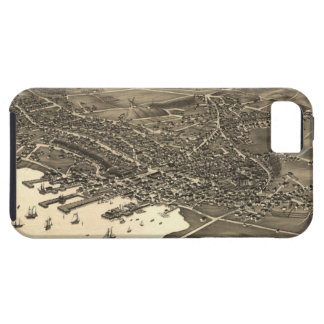Vintage Pictorial Map of Nantucket 1881 iPhone 5 Covers