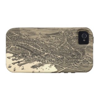 Vintage Pictorial Map of Nantucket (1881) Case-Mate iPhone 4 Cases