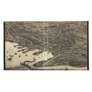 Vintage Pictorial Map of Nantucket (1881) iPad Folio Cover