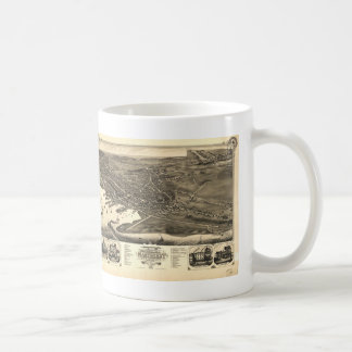 Vintage Pictorial Map of Nantucket (1881) Classic White Coffee Mug