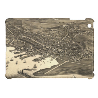Vintage Pictorial Map of Nantucket (1881) iPad Mini Case