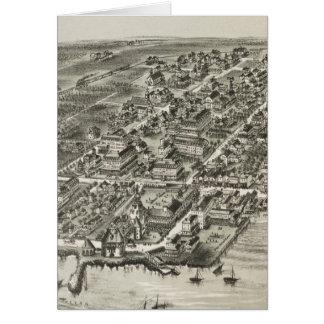 Vintage Pictorial Map of Narragansett RI (1888) Card