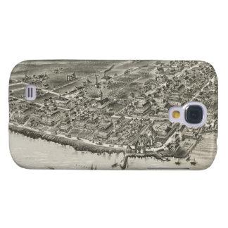 Vintage Pictorial Map of Narragansett RI (1888) Galaxy S4 Cases