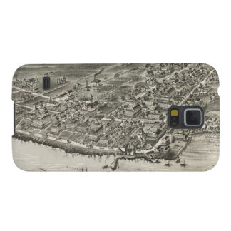 Vintage Pictorial Map of Narragansett RI (1888) Galaxy S5 Cover