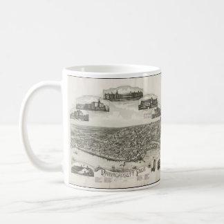 Vintage Pictorial Map of Narragansett RI (1888) Coffee Mug