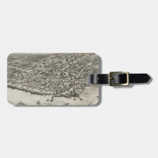Vintage Pictorial Map of Narragansett RI (1888) Luggage Tag