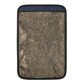 Vintage Pictorial Map of New Haven CT (1879) MacBook Sleeve