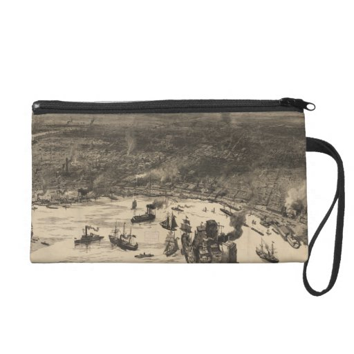 Vintage Pictorial Map of New Orleans (1884) Wristlet