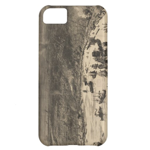 Vintage Pictorial Map of New Orleans (1884) iPhone 5C Cover