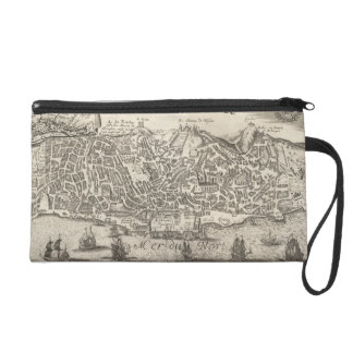 Vintage Pictorial Map of New York City (1672) Wristlets