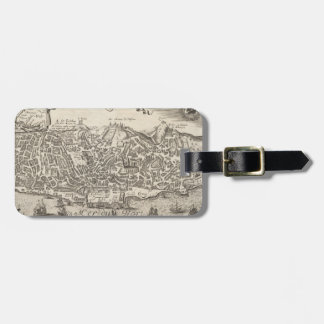 Vintage Pictorial Map of New York City (1672) Bag Tag