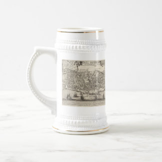 Vintage Pictorial Map of New York City (1672) Beer Stein