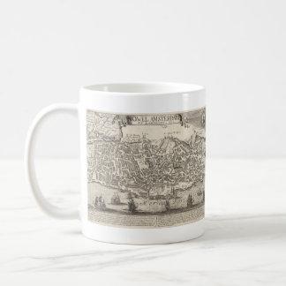 Vintage Pictorial Map of New York City (1672) Coffee Mug