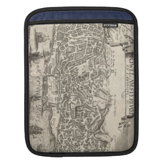 Vintage Pictorial Map of New York City (1672) iPad Sleeves