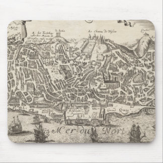 Vintage Pictorial Map of New York City (1672) Mouse Pad