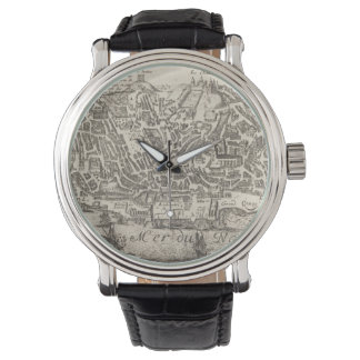 Vintage Pictorial Map of New York City (1672) Wristwatches