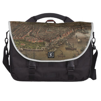 Vintage Pictorial Map of New York City (1873) Laptop Computer Bag