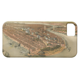 Vintage Pictorial Map of New York City (1874) iPhone SE/5/5s Case