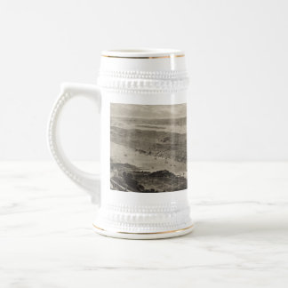 Vintage Pictorial Map of New York City (1876) Beer Stein