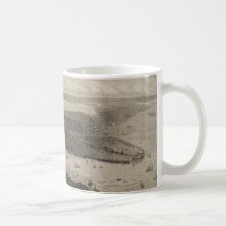 Vintage Pictorial Map of New York City (1876) Coffee Mug
