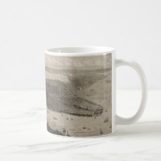 Vintage Pictorial Map of New York City (1876) Classic White Coffee Mug