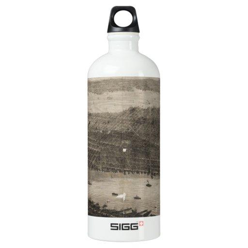 Vintage Pictorial Map of New York City (1876) SIGG Traveler 1.0L Water Bottle