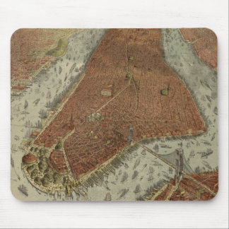Vintage Pictorial Map of New York City (1879) 2 Mouse Pad