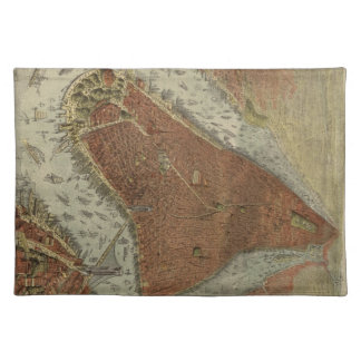 Vintage Pictorial Map of New York City 1879 2 Place Mats