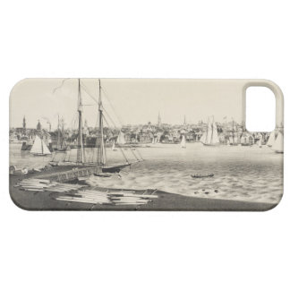 Vintage Pictorial Map of Newport RI (1860) iPhone 5 Case