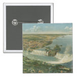 Vintage Pictorial Map of Niagara Falls NY (1893) 2 Inch Square Button