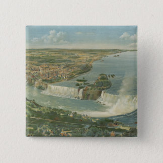 Vintage Pictorial Map of Niagara Falls NY (1893) Button