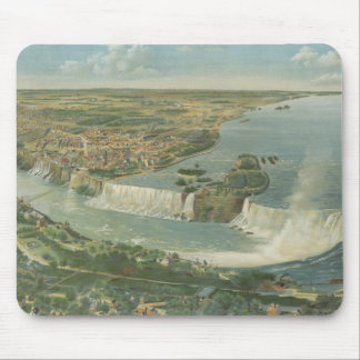 Vintage Pictorial Map of Niagara Falls NY (1893) Mouse Pad