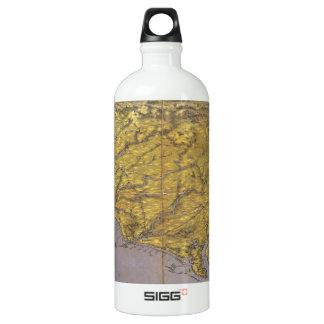 Vintage Pictorial Map of North Carolina (1861) Aluminum Water Bottle