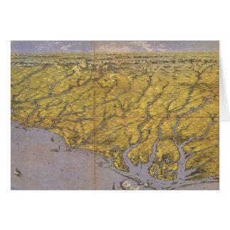 Vintage Pictorial Map of North Carolina (1861) Card
