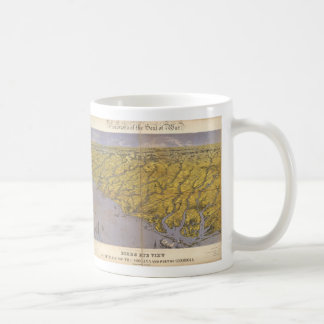 Vintage Pictorial Map of North Carolina (1861) Coffee Mug