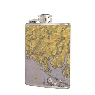 Vintage Pictorial Map of North Carolina (1861) Flask