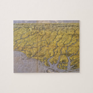 Vintage Pictorial Map of North Carolina (1861) Jigsaw Puzzle