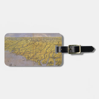 Vintage Pictorial Map of North Carolina (1861) Luggage Tag