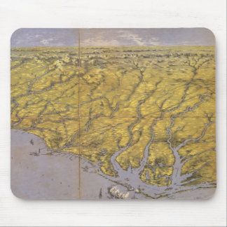 Vintage Pictorial Map of North Carolina (1861) Mouse Pad
