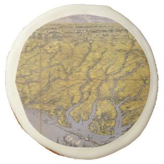 Vintage Pictorial Map of North Carolina (1861) Sugar Cookie