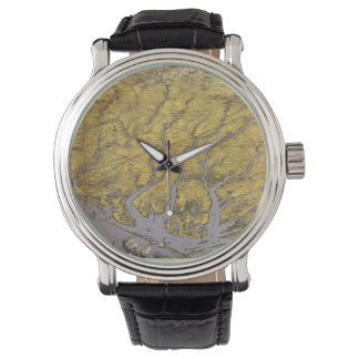 Vintage Pictorial Map of North Carolina (1861) Wristwatches